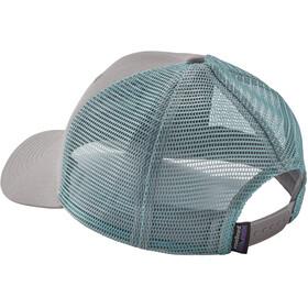 Patagonia P-6 Logo Trucker Hat drifter grey with dam blue